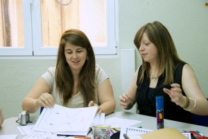 Practising phonetics during the TEFL course at TtMadrid